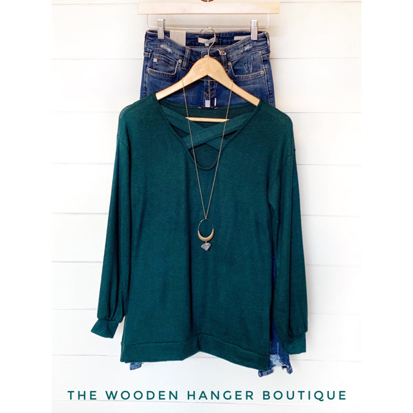 All I Need Sweater Tunic - The Wooden Hanger Boutique