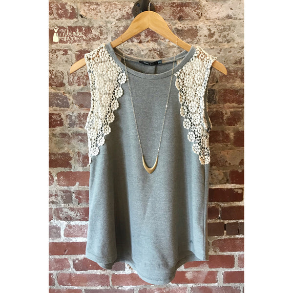 A New Time Crochet Tank - The Wooden Hanger Boutique