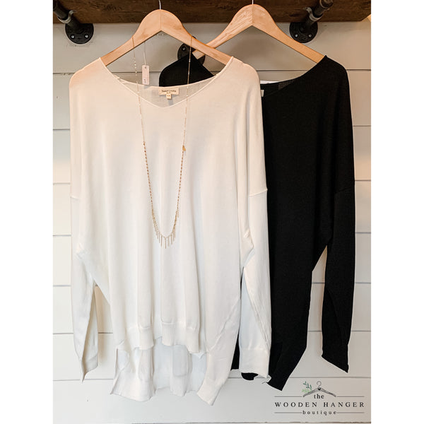 CURVY Need to Know Sweater - The Wooden Hanger Boutique