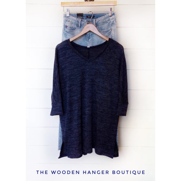 CURVY Right Beside You Sweater - The Wooden Hanger Boutique