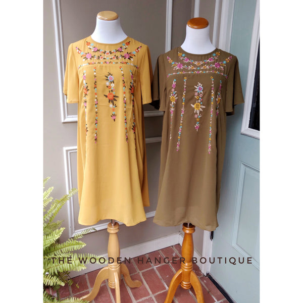 Life Changes Embroidered Dress