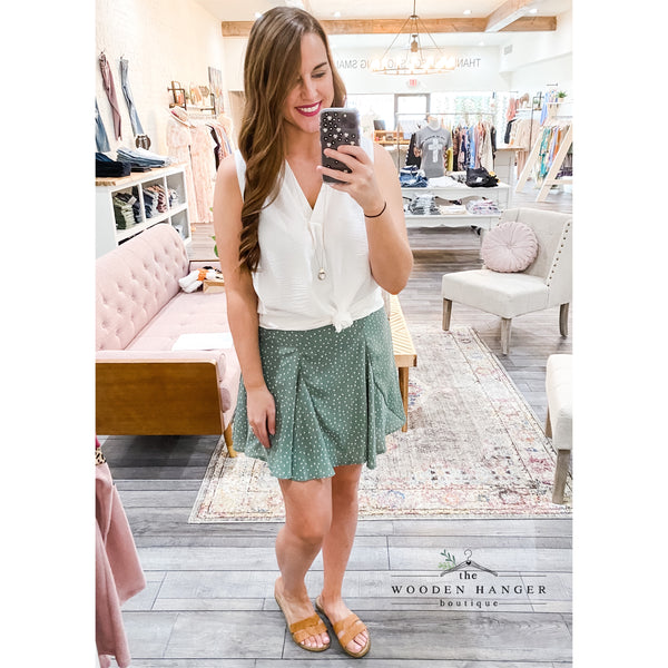 Stroll Through Downtown Skirt - The Wooden Hanger Boutique