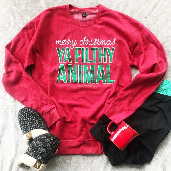 Filthy Animal Sweatshirt - The Wooden Hanger Boutique