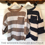 Coffee House Date Sweater - The Wooden Hanger Boutique