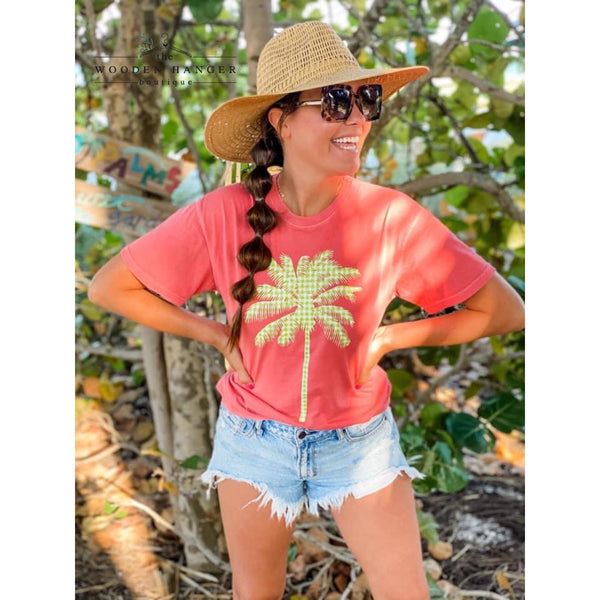 Gingham Palm Tree Tee