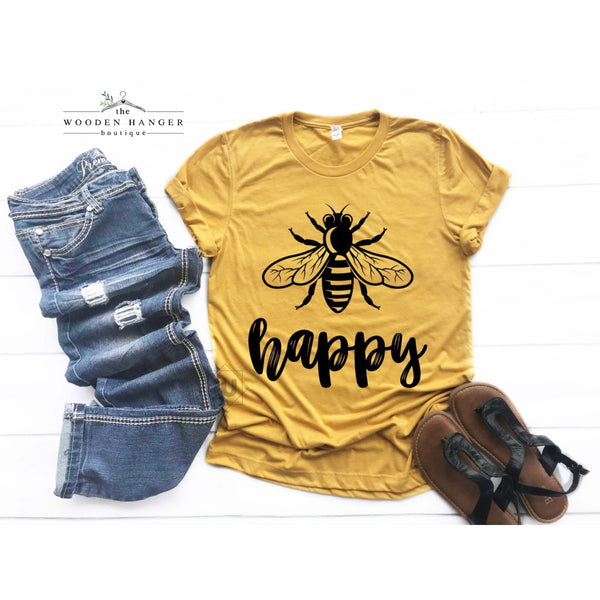 Bee Happy Tee - The Wooden Hanger Boutique