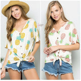 Pineapple Paradise Tie Top