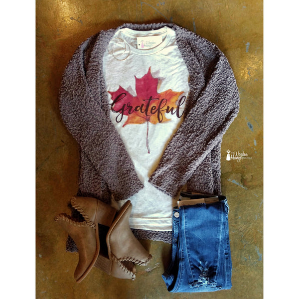 Grateful Leaf Tee - The Wooden Hanger Boutique