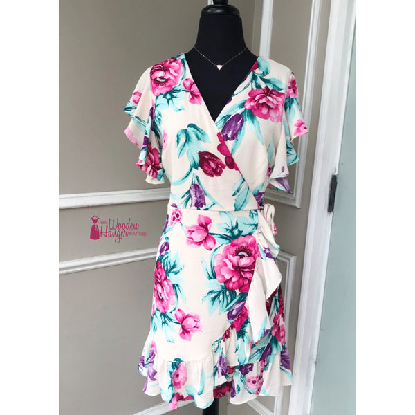 Dance with Me Floral Print Dress - The Wooden Hanger Boutique