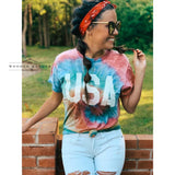 USA Tie-Dye Tee - The Wooden Hanger Boutique