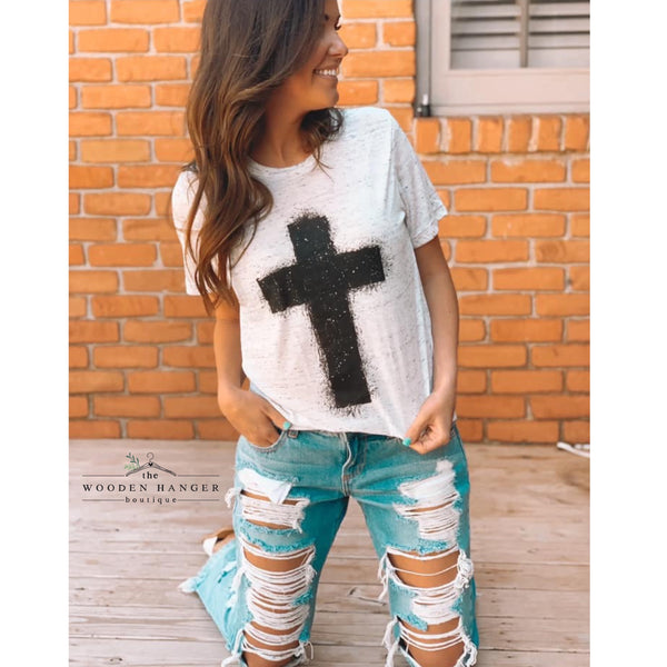 Meet Me at the Cross Tee - The Wooden Hanger Boutique