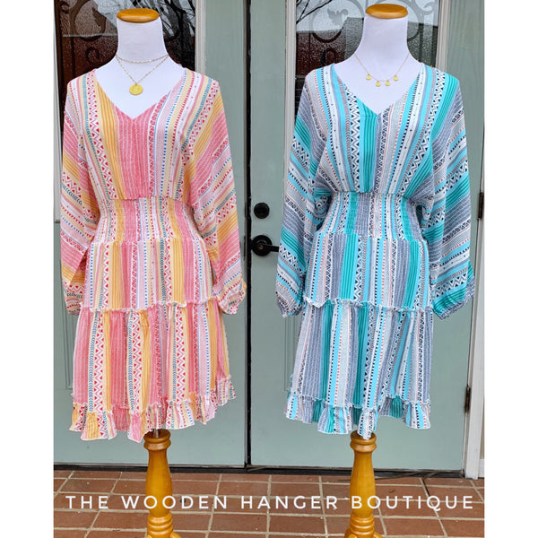Heat Wave Tiered Dress - The Wooden Hanger Boutique