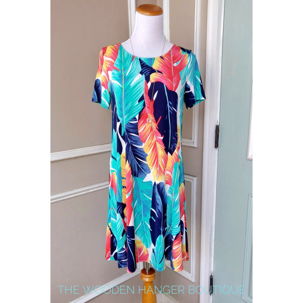 Under the Palms Print Dress