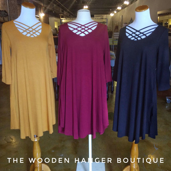 CURVY Swing Into Style Dress - The Wooden Hanger Boutique
