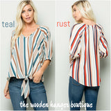 Earned My Stripes Top - The Wooden Hanger Boutique