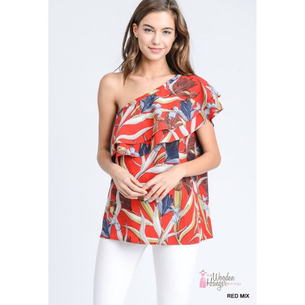 Leaf it to Me Print Top - The Wooden Hanger Boutique