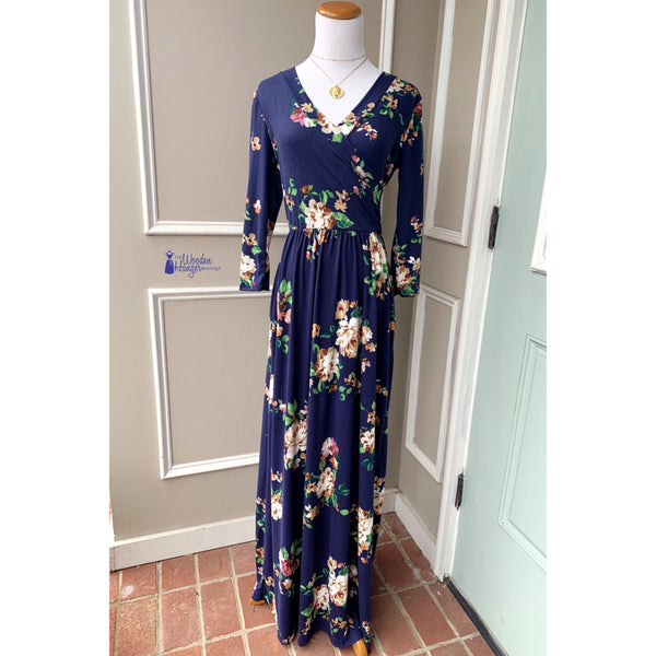 Down the Road Floral Maxi