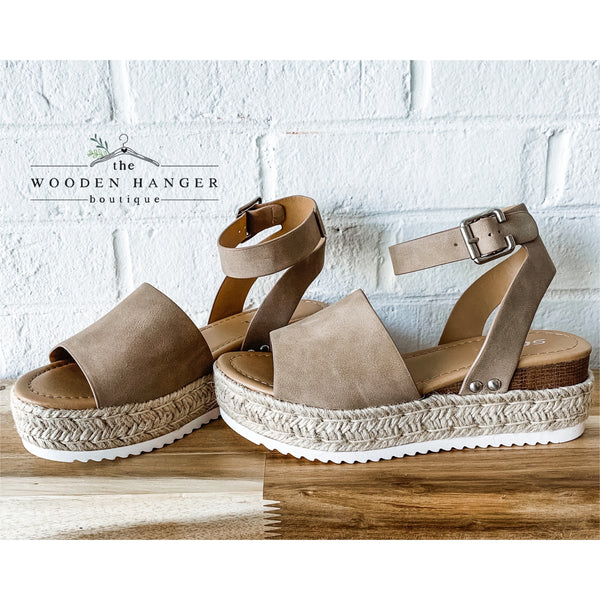 Wedge of Glory Sandals - The Wooden Hanger Boutique