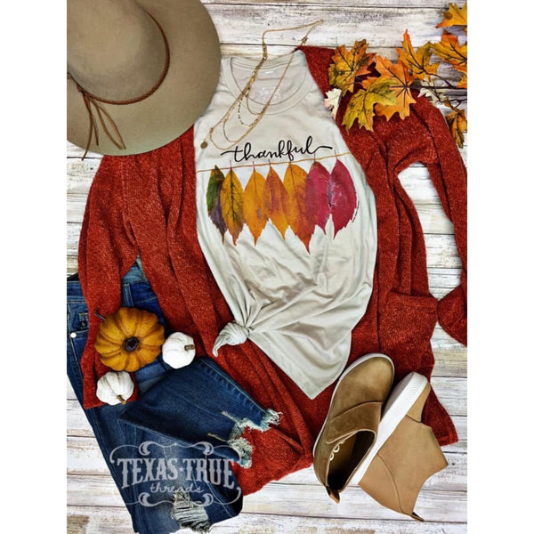 Thankful Leaves Tee - The Wooden Hanger Boutique