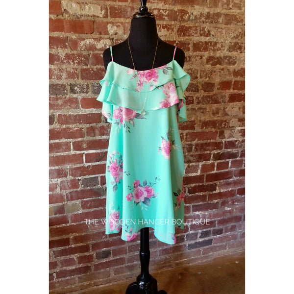 Paradise Floral Print Dress - The Wooden Hanger Boutique