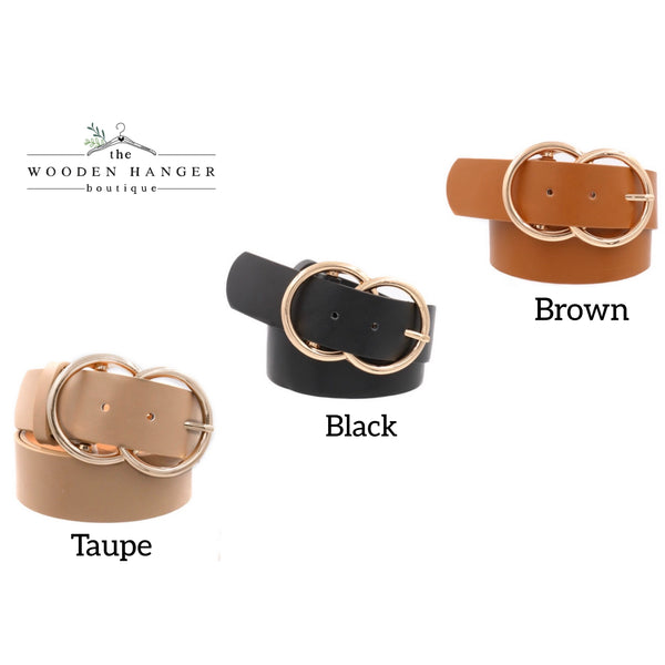 Faux Leather Buckle Belt - The Wooden Hanger Boutique