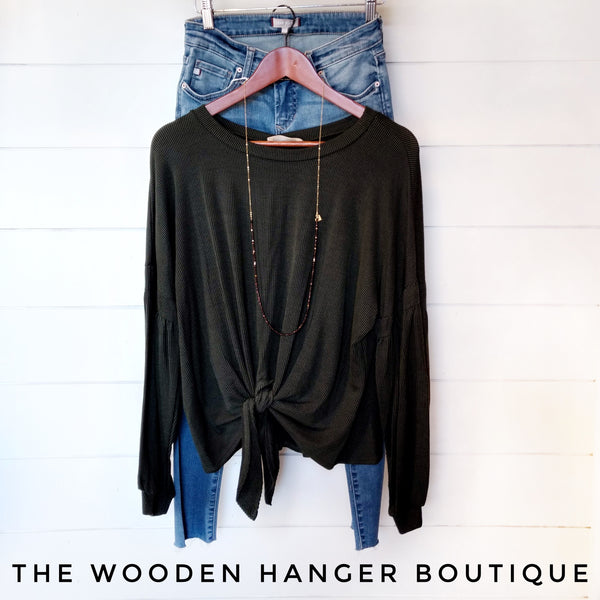 Chilly Fall Evening Top - The Wooden Hanger Boutique