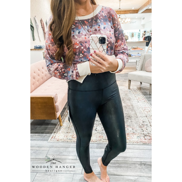 Faux Leather Pebble Leggings