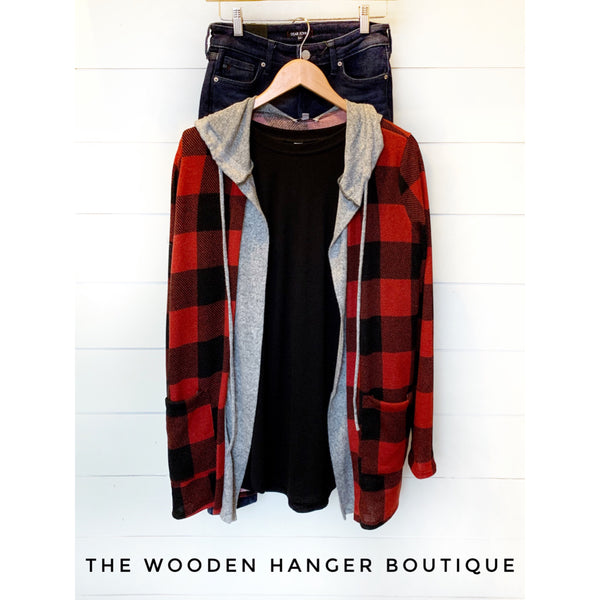 Perfect Day Buffalo Plaid Cardigan