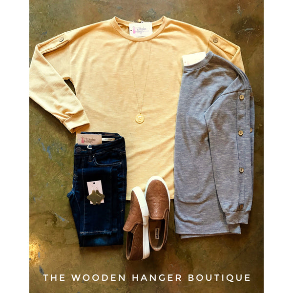 Falling For You Ribbed Sweater - The Wooden Hanger Boutique