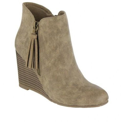 MIA Buckley Wedge Bootie - The Wooden Hanger Boutique