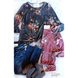 Close To Your Heart Floral Top - The Wooden Hanger Boutique