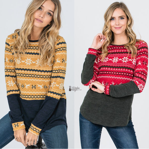 Seasons Greetings Knit Top