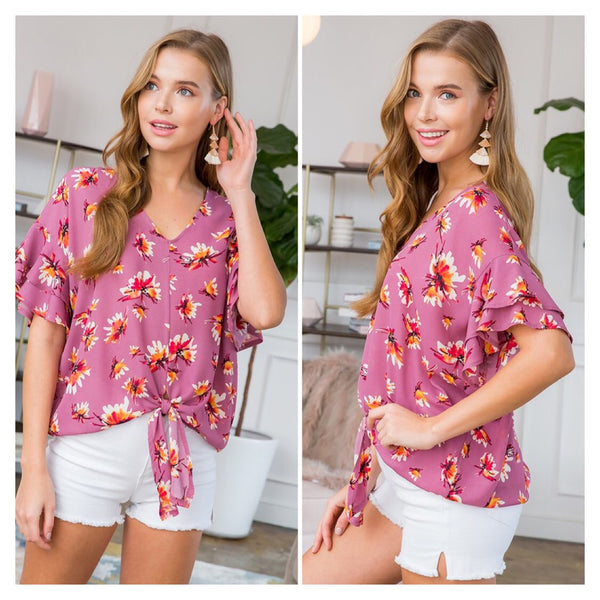 Love You Most Floral Top - The Wooden Hanger Boutique