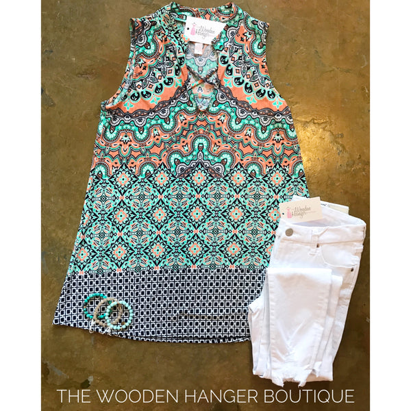 CURVY Weekend Company Print Top - The Wooden Hanger Boutique