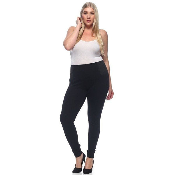 CURVY Double Elastic Legging - The Wooden Hanger Boutique