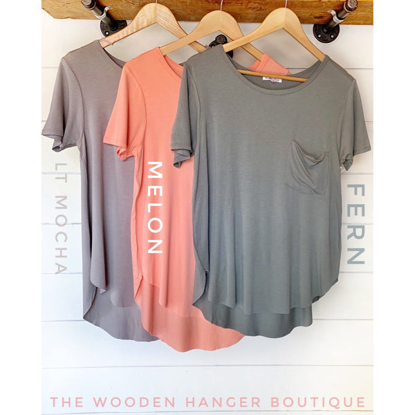 Everyday Wear Crew Neck Tee - The Wooden Hanger Boutique
