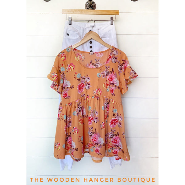Bloom and Grow Babydoll Top - The Wooden Hanger Boutique