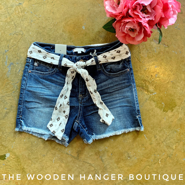 Gigi Highrise Short, Blue Storm - The Wooden Hanger Boutique