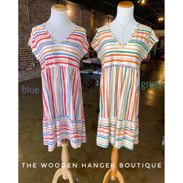 Summer Happiness Striped Dress
