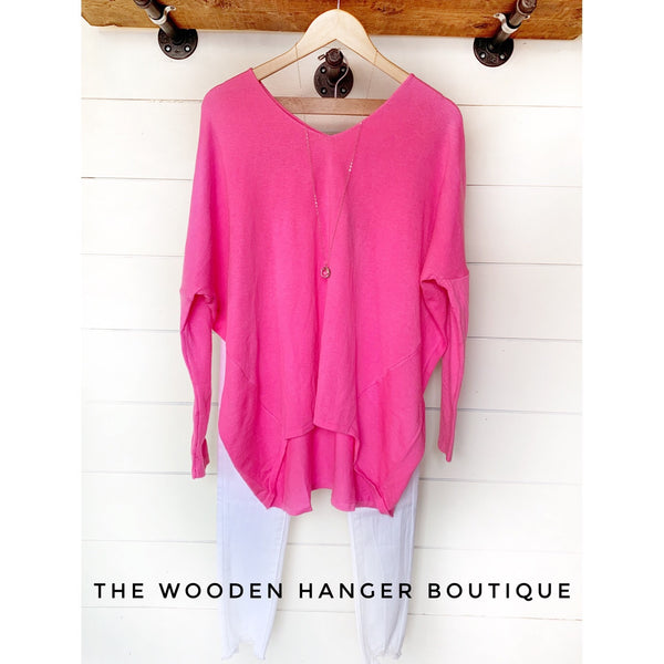 Casually Put Together Sweater Top - The Wooden Hanger Boutique