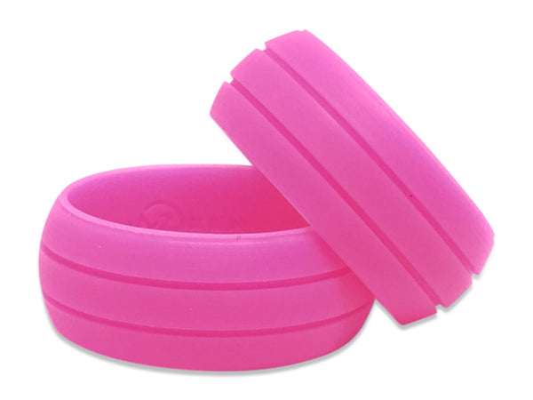 pink silicone rings breast cancer awareness rubber bands