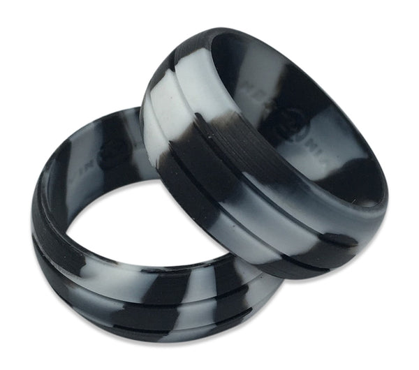 camo white black camoflauge silicone rings rubber band