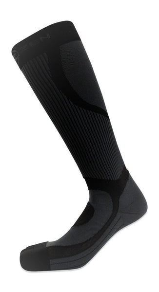 compression socks black with design knee high 20-30 mmhg compress nurses retail sports runners