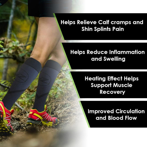 compression socks to reduce swelling and pain providing comfort to painful shin splints and calves
