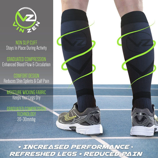 info compression sock benefits graduated compression alleviates leg pain and swelling increase performance and blood flow circulation