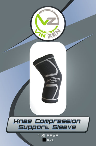 knee compression sleeve support packaging design vin zen gel knee sleeve silicone strips