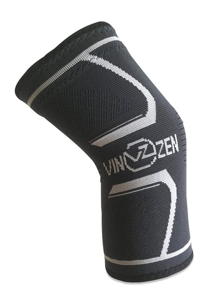 knee compression sleeve for women men active support knit charcoal grey men and women