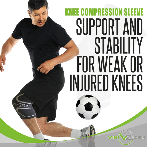 knee compression sleeve for support and stability of weak or injured knees help recovery and protect from injury