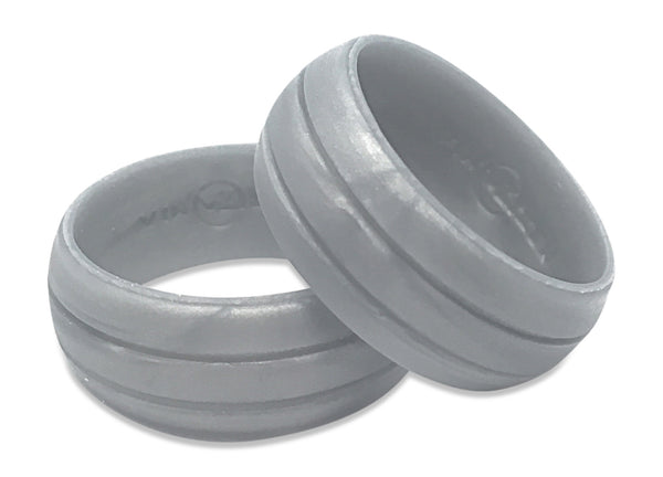 grey marbly color mens silicone wedding rings rubber bands