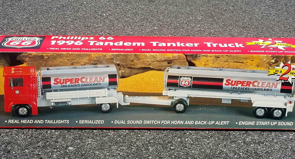 1996 phillips 66 superclean gas tandem double tanker truck. Black Bedroom Furniture Sets. Home Design Ideas